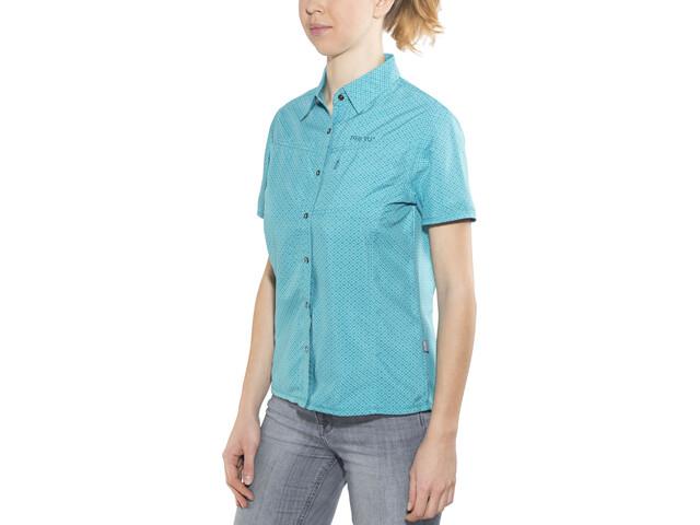 Meru Melissia Blouse à manches courtes Femme, turquoise